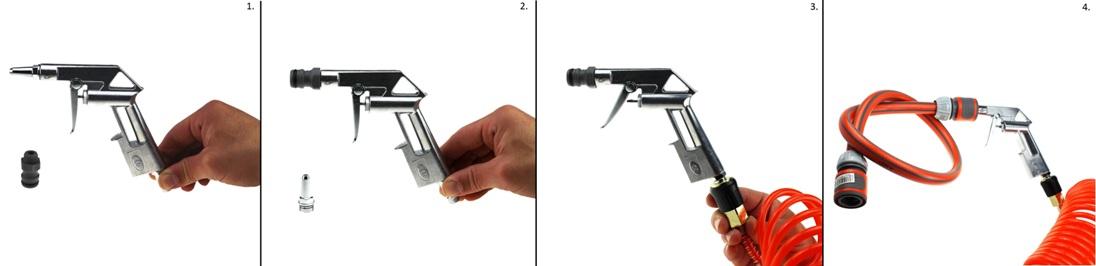 Końcówka, przyłącze, pistolet do przedmuchania systemu nawadniania na zimę